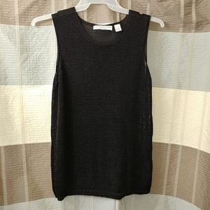 1X Josephine Chaus Woman black tank sweater
